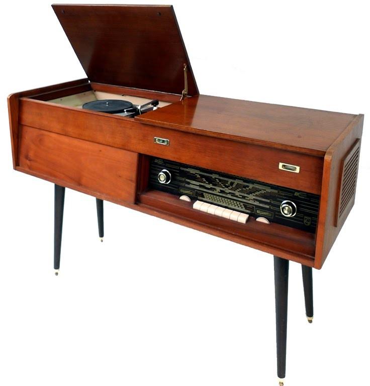 Tocadiscos philips ampli holanda 1959 for Muebles para tocadiscos