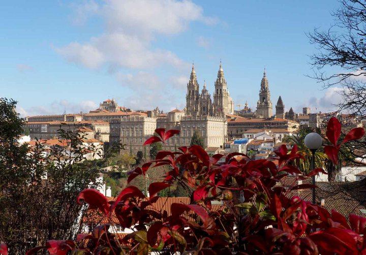Vista Catedral Santiago desde mirador Alameda